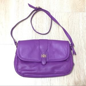 Handbags - Vintage leather cross body double zipper purse
